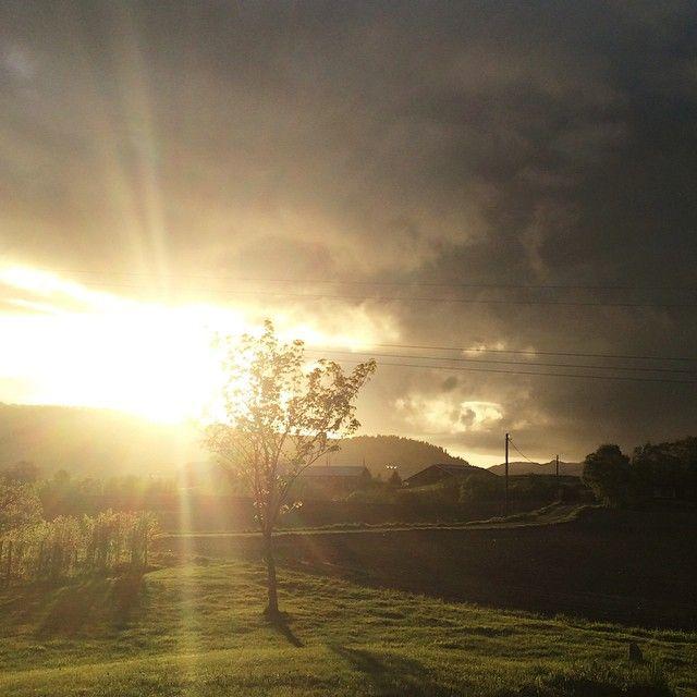 Fager kveldsol smiler, over heimen ned, jord og himmel kviler stilt i heilag fred | #kveldsol #sun #melhus #melhusbankenmai #tronderbladet #nofilter #evening #himmel #sky #skyporn #mittnorge #essenceofnorway #ilovenorway #livetpålandet #landscape #landskap #natur #nature #trøndelag #mai #may #vår #vakkert #beautiful