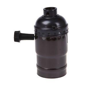E27 Fassung fuer Edison Vintage Stil Gluehbirne mit Schalter(ohne Draehte) T7D7