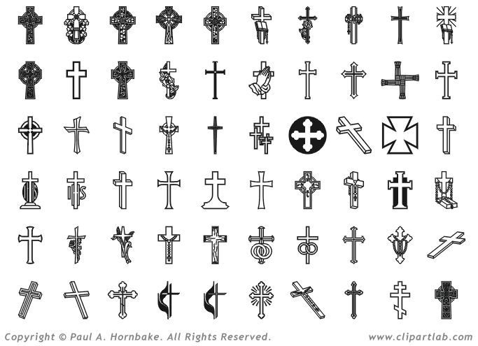 Religious Clip Art | Crosses Clipart Eps Christian Clip Art - Free Download Tattoo #38814 ...
