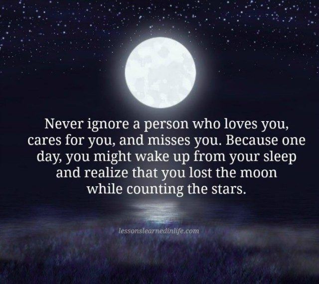 Lessons Learned in Life   Never ignore a person.
