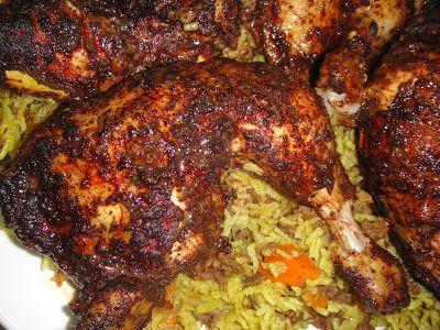Maryams Culinary Wonders: 235. Sumac Roast Chicken with Iraqi carrot rice