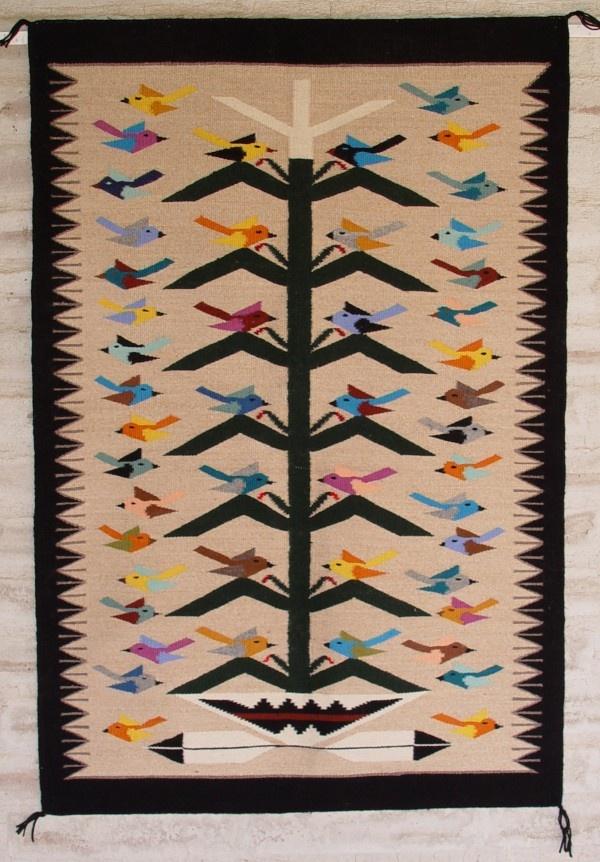 Tree of Life Navajo rug
