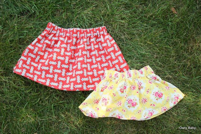 Simple skirts for little girls - Will file this away for when the sewing machine and I are on speaking terms again....