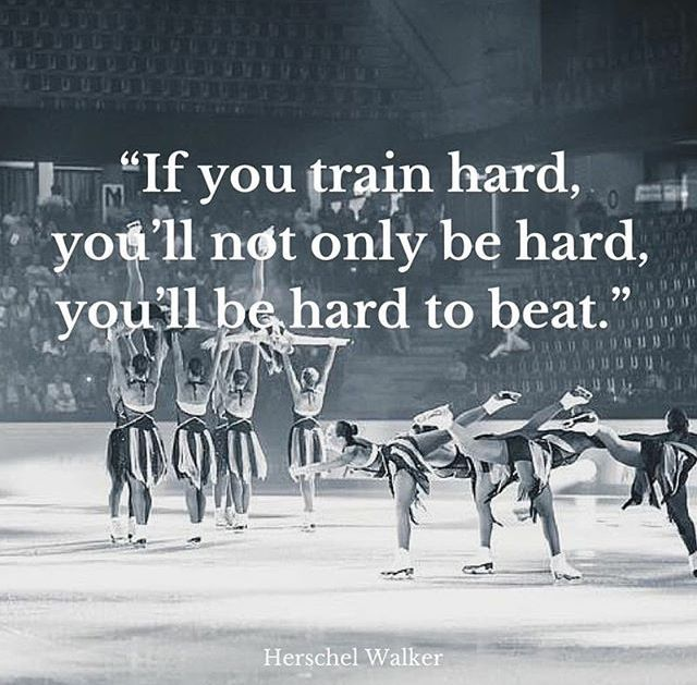 If you train hard, you'll not only be hard, you'll be hard to beat.