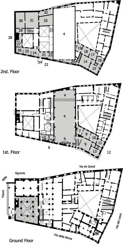 Palazzo Vecchio Florence Plans Mc Italian Renaissance
