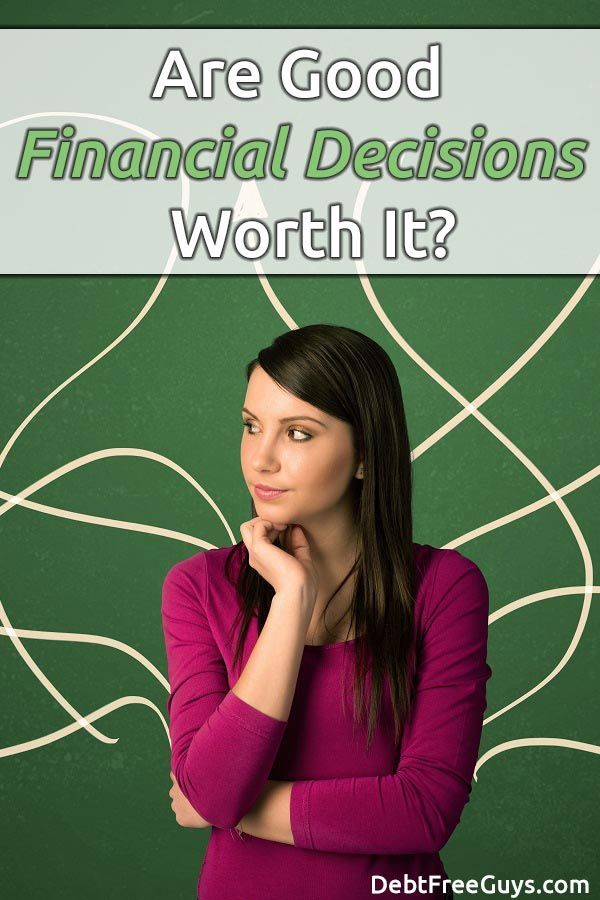 What does it take to make good financial decisions? We learned by our mistakes. We share one of our best #MoenyConscious decisions and the awesome rewards of doing it! via @DebtFreeG