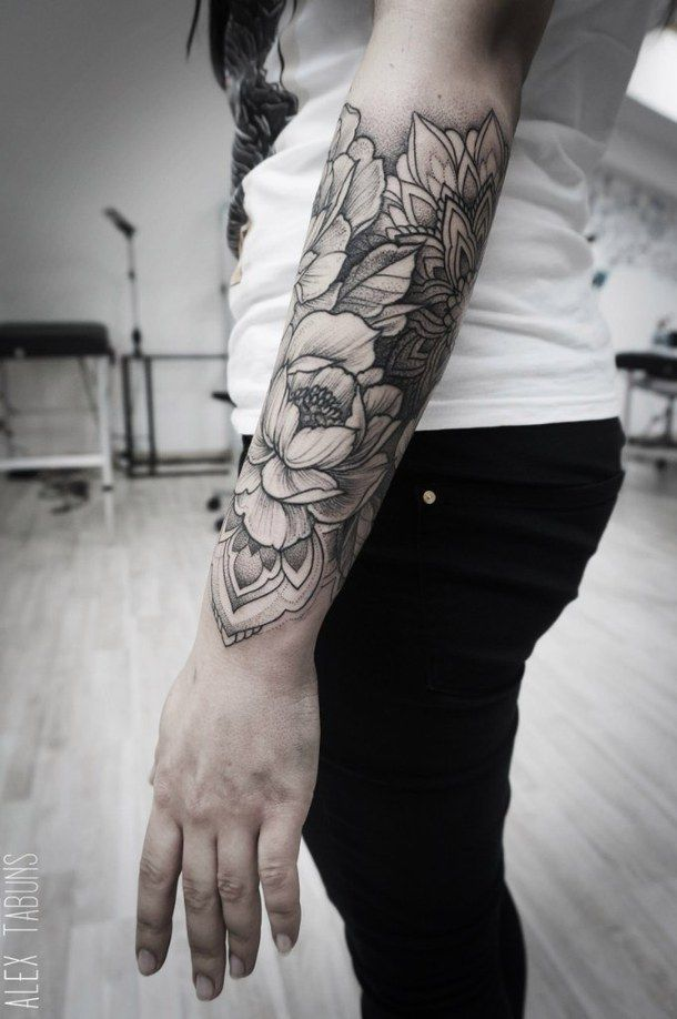 arm, flowers, sleeve, tattoo