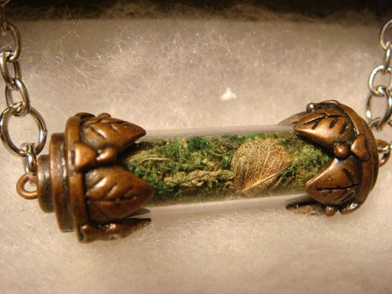 Moss Terrarium Woodland Vial Necklace