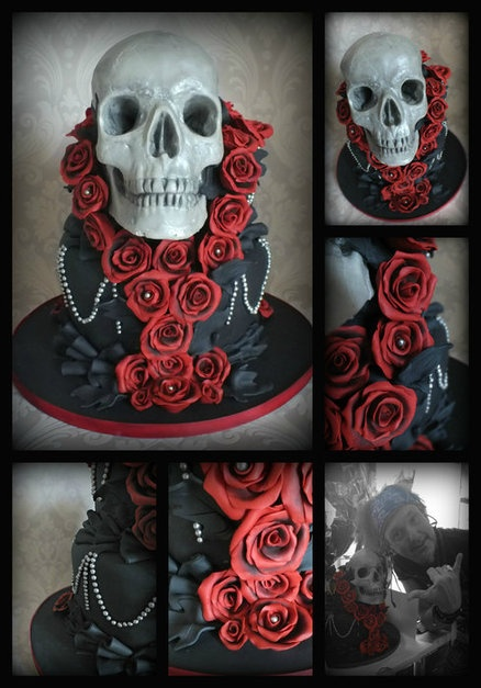 skull cake Cake by clevercow