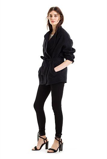 Textured Wrap Jacket