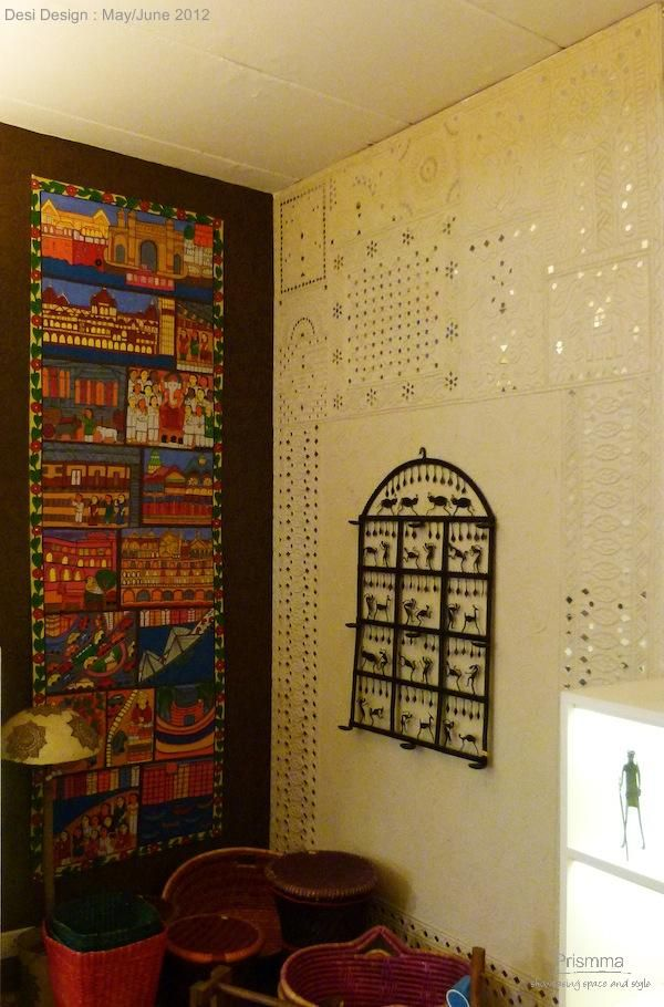 Indian Handicrafts-Baaya Design by Shibani Jain & 61 best wall murals indian folk art images on Pinterest | Canvases ...