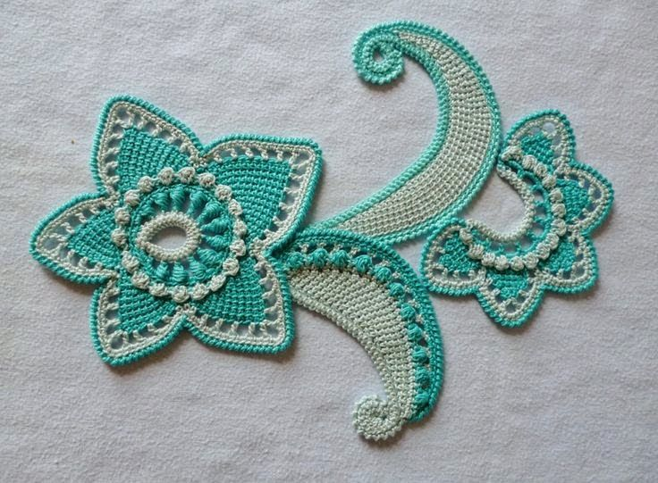 Letras e Artes da Lalá: Crochê irlandês (irish lace)