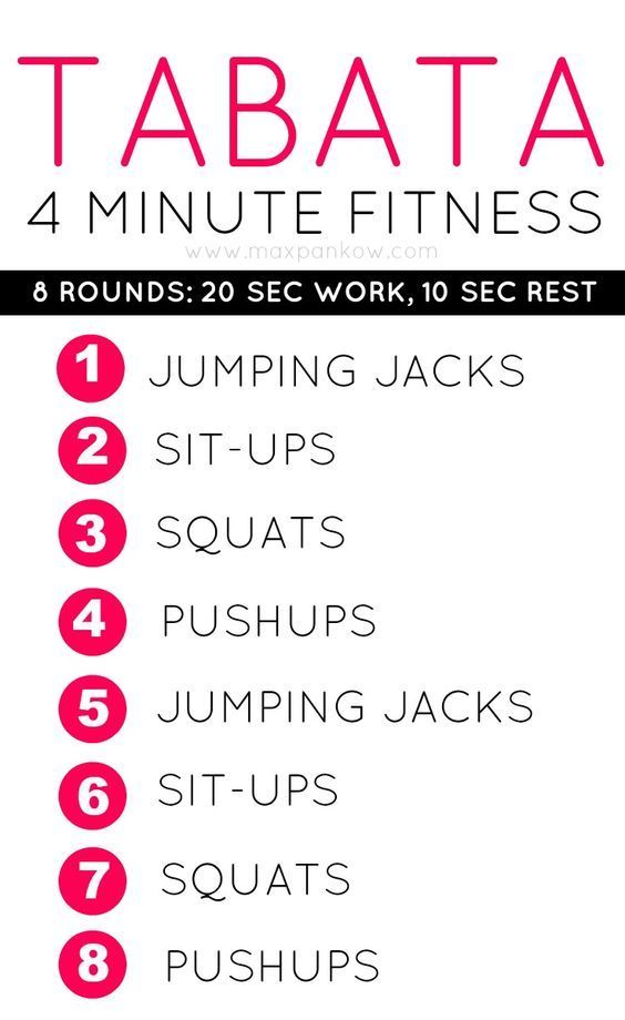 4 Minute Fat Burning Tabata Workout – Burn Fat up to 24 Hours