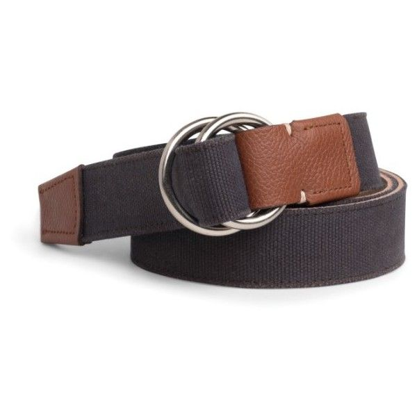 Men's Peter Millar Mountainside Canvas O-Ring Belt (460 BRL) ❤ liked on Polyvore featuring men's fashion, men's accessories, men's belts, cocoa, mens belts and mens canvas belts