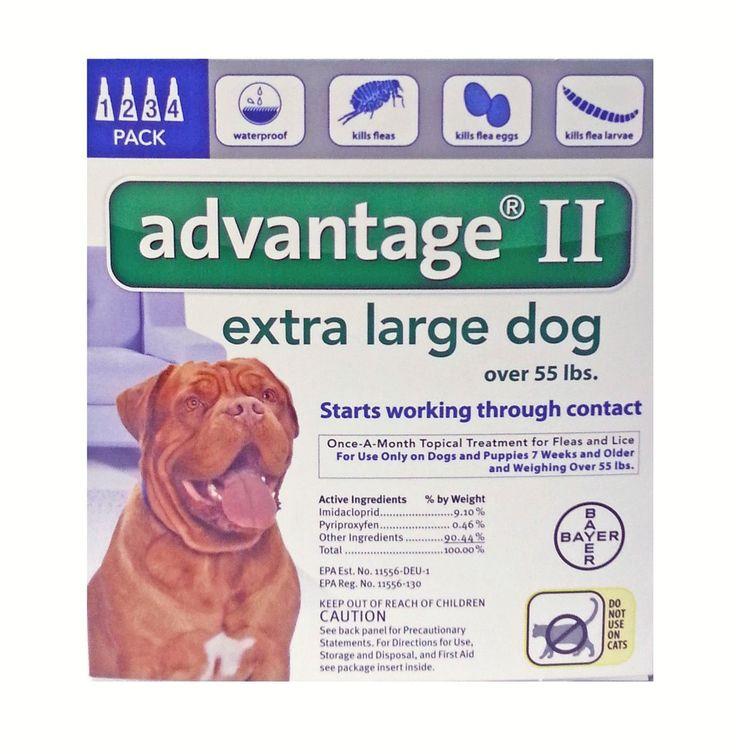 Bayer Advantage Ii Topical Flea Treatment Large Dogs  Dose