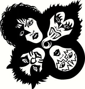KISS BAND STICKER. If you want to customize your own band sticker, visit www.unifiedmanufacturing.com