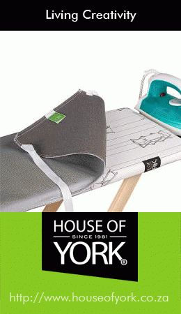 House of York's metalised ironing board cover reflects the heat from your iron away from the cover and back onto your garment - making ironing quicker and using less heat. #ironing #laundry