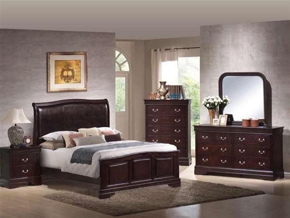 louis philippe traditional cappuccino master bedroom set