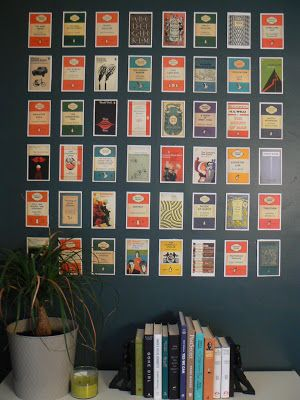 Fun Penguin book cover postcard wall art! (inspired by Young House Love book, project #28)