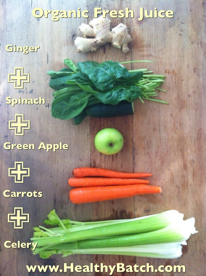 Organic green fresh pressed juice. Juice it with a Breville or Hurom Slow Juicer!