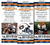 College Football Ticket Invitations...Great for a kids birthday party