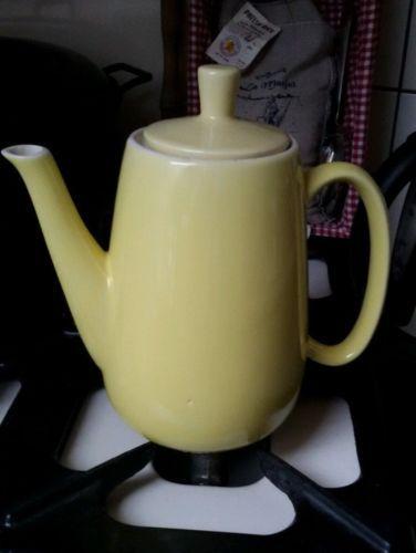 sehr alte melitta minden kaffeekanne waku vintage feuerfest steingut gelb 2l melitta kannen. Black Bedroom Furniture Sets. Home Design Ideas