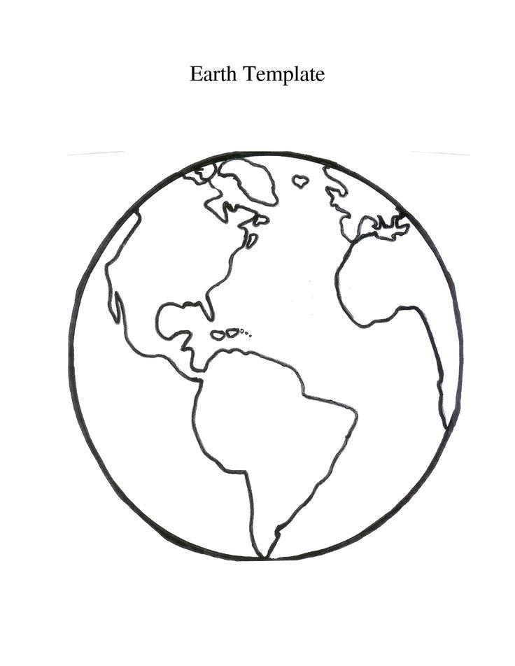 раскраска модель земли восьми лет