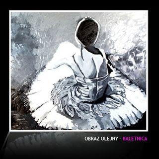 Obraz olejny - tematyka balet.
