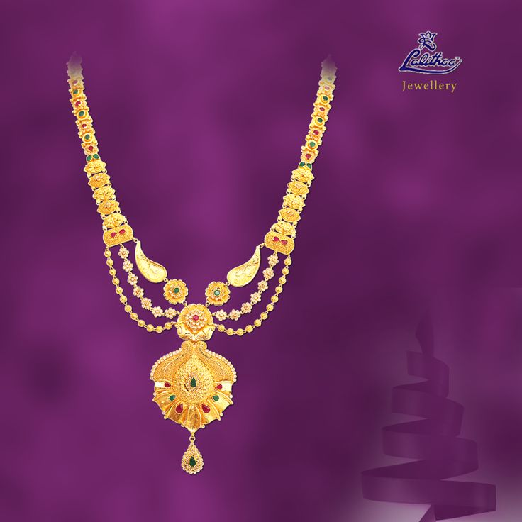 LALITHAA_JEWELLERY New variety of polki haram with three set of chains en carved with colourful enamel. For more collections visit - www.lalithaajewellery.com   Buy Ethnic Necklaces for Women Ethnic jewellery Necklaces Stone Necklaces Designs Buy Stone Necklaces Online Buy Stone Necklaces for Women