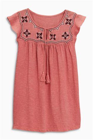 Pink Ruffle Sleeve Top