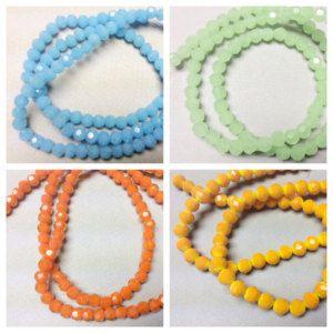 50-4mm Swarovski crystal, 4mm Tangerine, Yellow, green, blue crystal beads, orange faceted crystal beads, 4mm tangerine Beads 203 ships