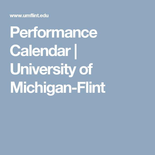 Performance Calendar | University of Michigan-Flint