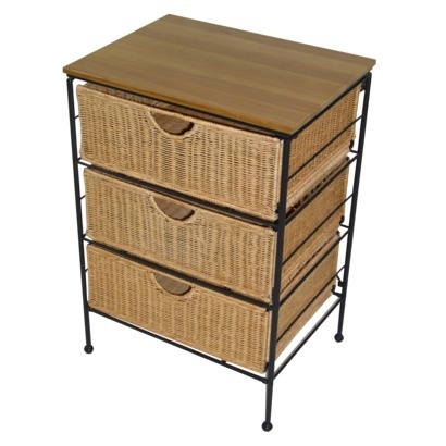 3 Drawer Wicker Cabinet Natural Bedroom Pinterest The O 39 Jays Natural And Drawers