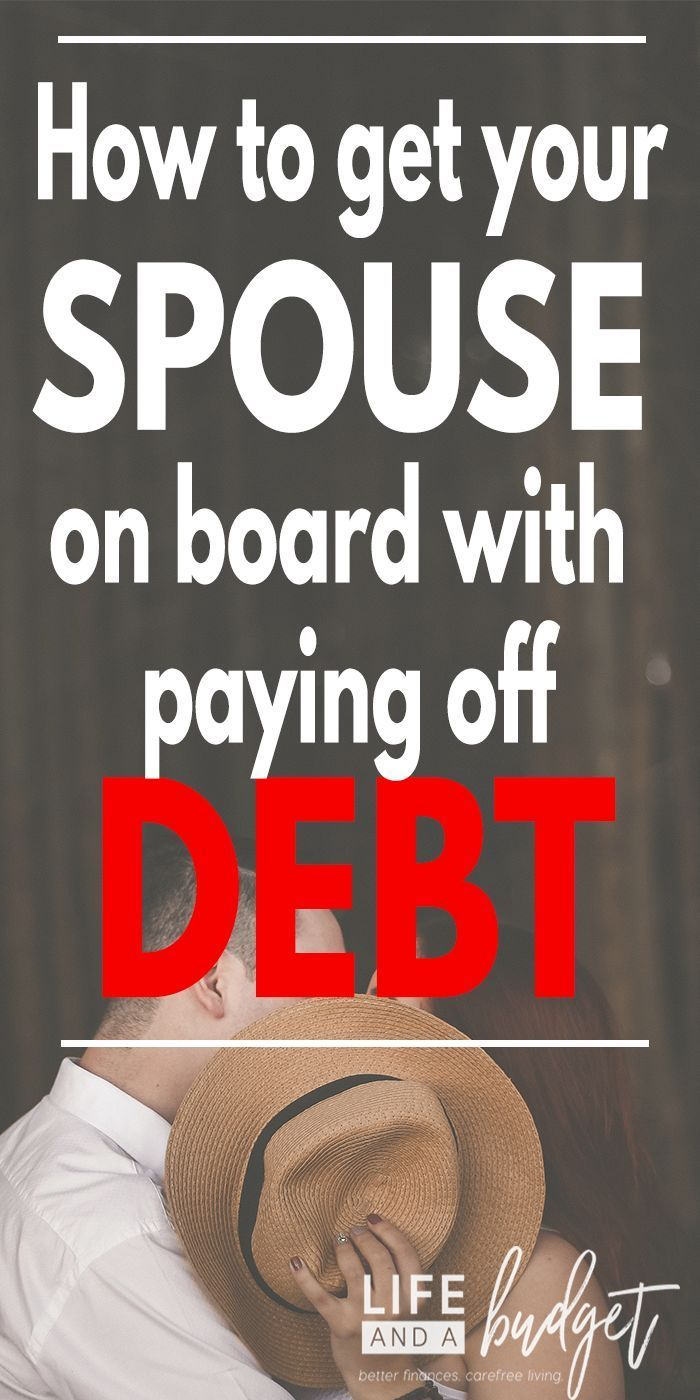 If you're struggling to get your spouse or significant other on board with paying off debt, here are stories from 7 women who have gotten their spouses to help them tackle hundreds of thousands of dollars in debt. #personalfinance #budgeting #debt #marriage