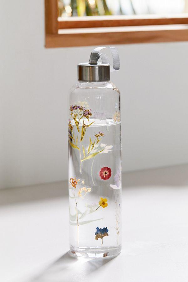 Printed Glass Water Bottle Glass Water Bottle Trendy Water