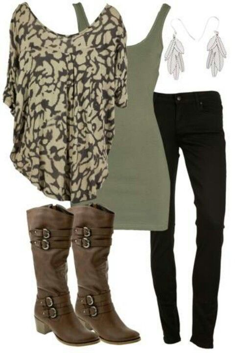 Cute!: Army Green, Fashion, Style, Dream Closet, Cute Outfits, Fall Outfits, Fall Winter