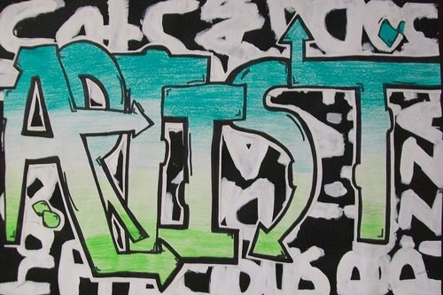 cool way to do graffiti names   Digication e-Portfolio :: Apache Elementary Art :: Graffiti Art