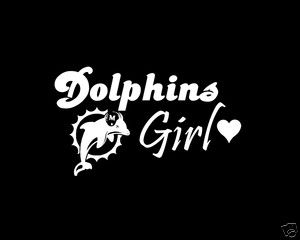 miami dolphins girl Window Decal
