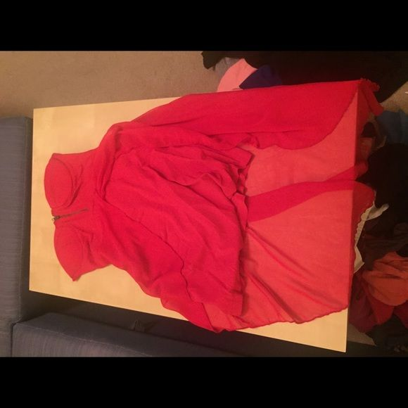 Asos red dress, hi-low, sz 8 Used beautiful hi-low dress. Sz 12 uk, sz 8 us. ASOS Dresses High Low