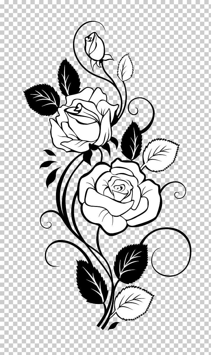 Rose Drawing Vine Rose White Flower Illustration Png Clipart Flower Clipart Roses Drawing Clipart Black And White