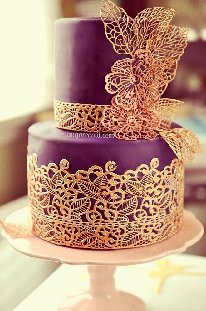 Lace Wedding Cakes | bellethemagazine.com