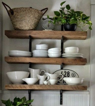 Rustic Wood Shelves by craftandfoster on Etsy