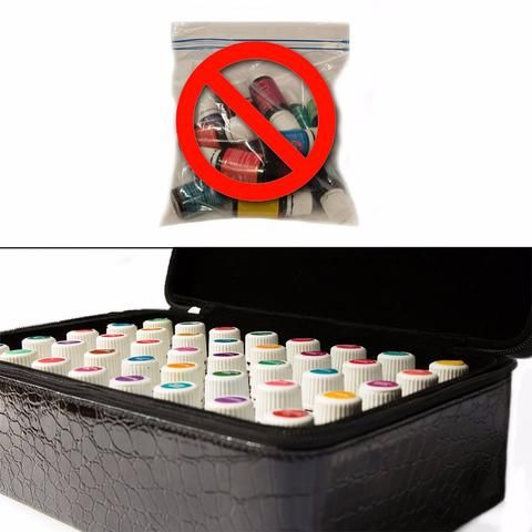 Pro Essential Oil Carrying Case for 12 Bottles 15ML 60 Bottles 2 ML Essential Oils Makeup Bag