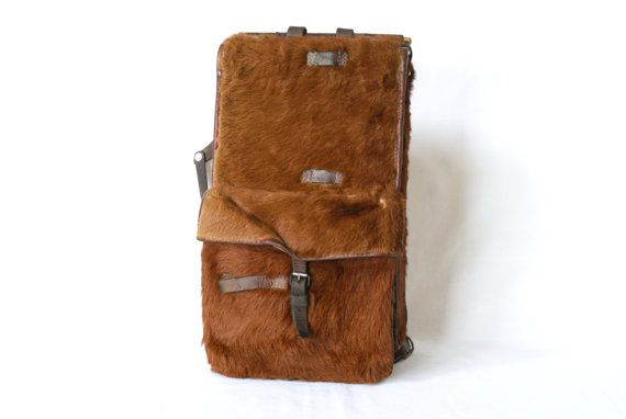Swiss Army Backpack 1940 WW2 Era Cowhide by CurialVintage on Etsy