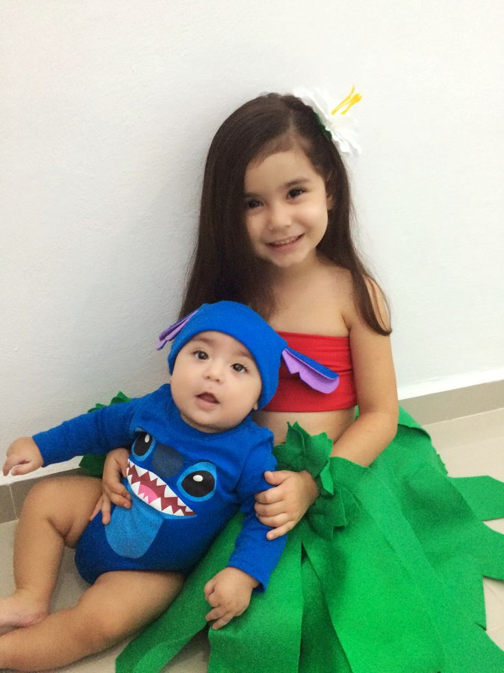 Siblings brother and sister costume lilo and stitch disney kids toddler baby