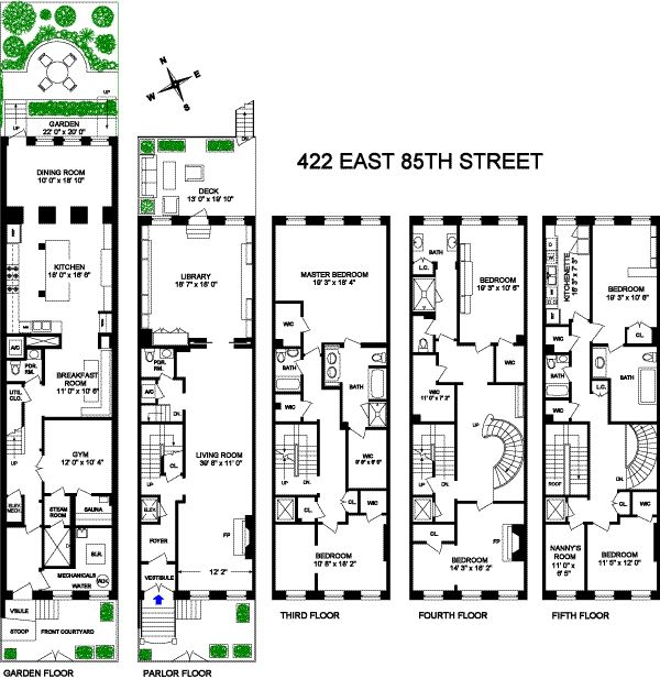 Image from for Brownstone townhouse plans