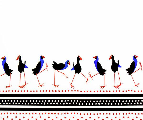 Print featuring the photograph Pukeko March by Wairua o te Moana