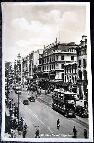 Adderley Street, Cape Town in the 1920s.