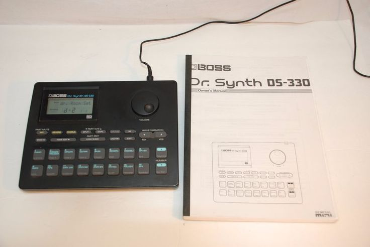 Roland Boss Dr. Synth DS-330 General MIDI Synthesizer with AC Adapter & Manual #RolandBOSS