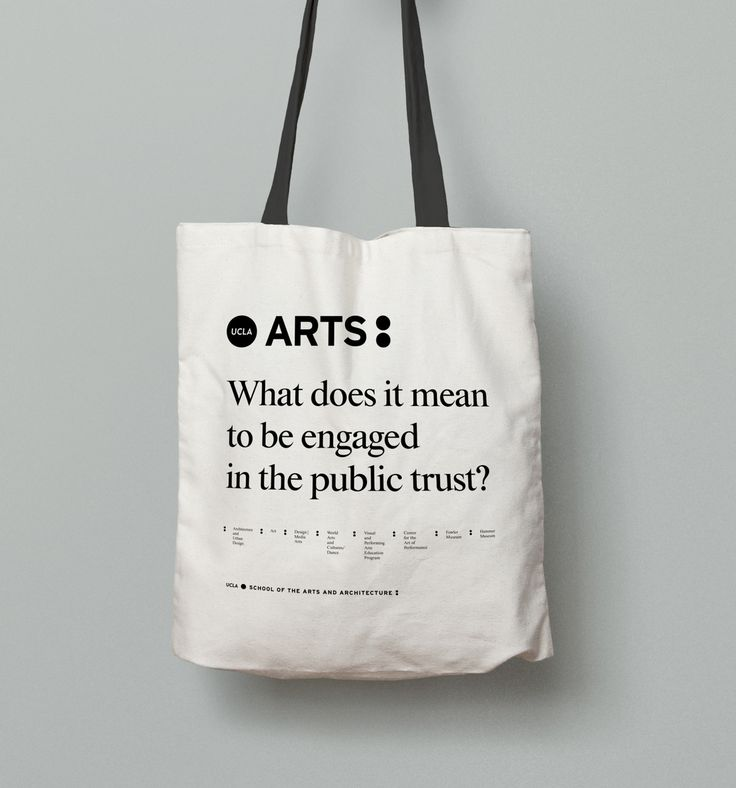 Tote Bag For Prospective And Current Students At UCLAu0027s School Of The Arts  And Architecture